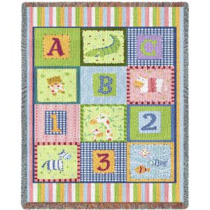 ABC 123 Mini | Tapestry Blanket | 34 x 53