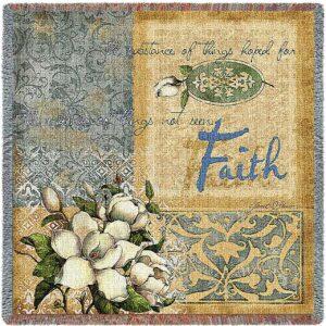 Faith | Woven Blanket | 53 x 53