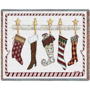 And the Stockings Were Hung | Woven Blanket | 54 x 70