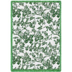 Amelias Garden Hunter | Tapestry Blanket | 69 x 48
