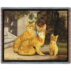 Abyssinian Cat Family | Throw Blanket