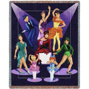 Dance Recital | Cotton Throw Blanket