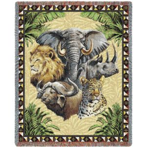 Big Five | Woven Throw | 53 x 70