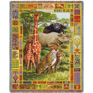 African Plains | Woven Blanket | 53 x 70
