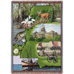 Mississippi | Tapestry Blanket | 54 x 70
