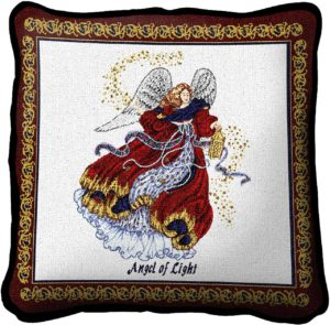 Angel Of Light | Christmas Throw Pillow | 17 x 17