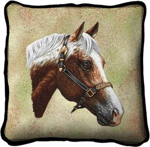 Appaloosa Horses | Woven Tapestry Throw Pillow | 17 x 17