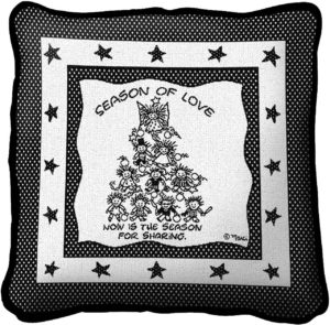 Season Of Love Christmas | Throw Pillow | 17 x 17