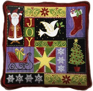 Christmas Icons | Christmas Throw Pillow | 17 x 17