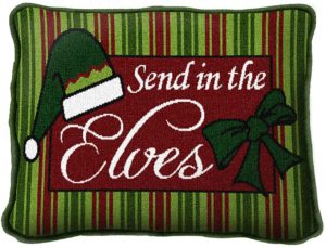 Send In The Elves | Christmas Throw Pillow | 8 x 12