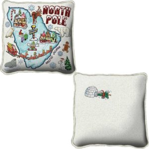 North Pole | Christmas Throw Pillow | 24 x 24