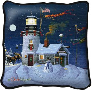 Take Out Window | Charles Wysocki | Christmas Throw Pillow | 17 x 17