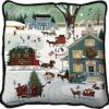 Cape Cod Christmas | Charles Wysocki | Christmas Throw Pillow | 17 x 17