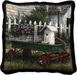 "Antique Wagon Decorative | Throw Pillow | 17"" x 17"""