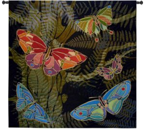 Woodland Butterfly | 53 x 53 | Woven Wall Tapestry