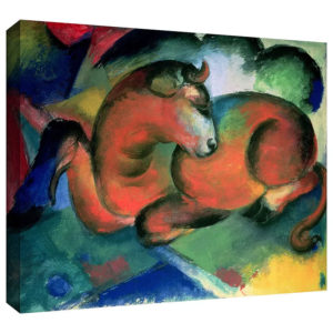 The Red Bull by Franz Marc Painting Print on Gallery Wrapped Canvas