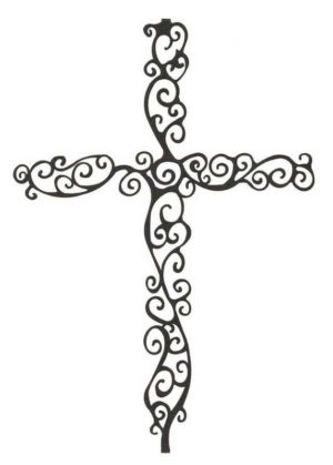 Spiral Cross Laser Cut Art | 18"
