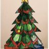 "Tiffany Christmas Tree Accent Lamp | 16"" H X 10"" W"