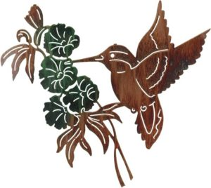 "Hummingbird (Revised) | 24"" | Metal Wall Artwork"