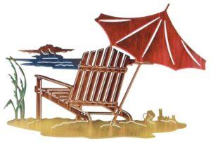 "Sandcastle (Adirondack Chair) 24""   Metal Wall Art"