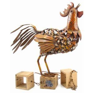 August Grove   Cropsey Rooster Statue