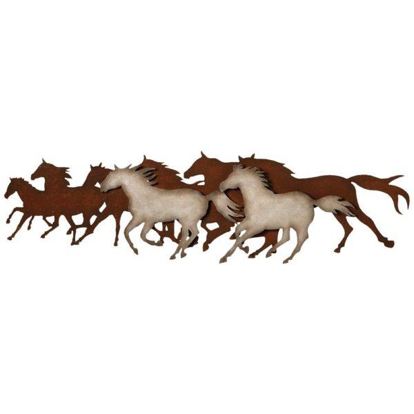 "Galloping Horses Western Metal Wall Art | 48"""