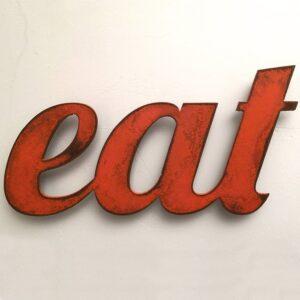 EAT Sign Metal Wall Art