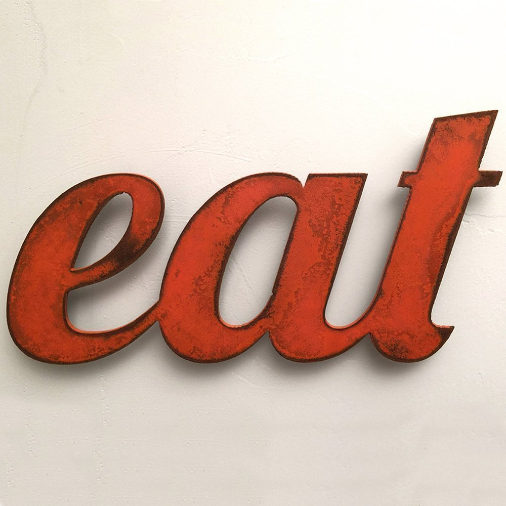 EAT Sign Metal Wall Art