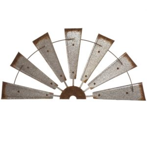 Semi-Circle Windmill Metal Wall Decor