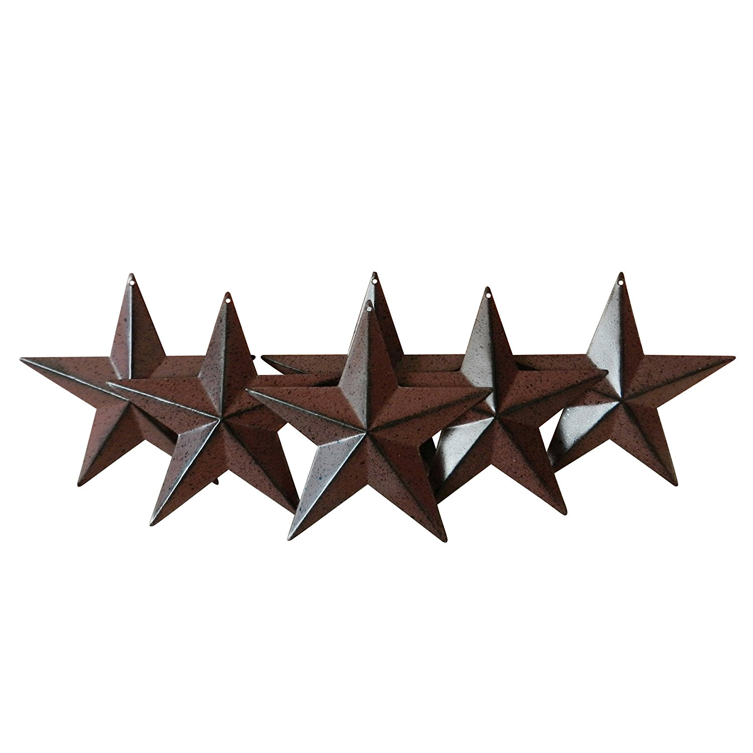 "4"" Burgundy/Black Metal Barn Star 