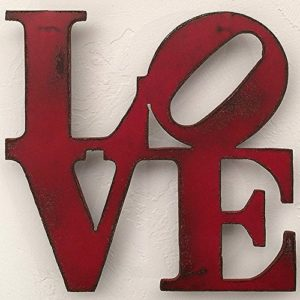 LOVE Sign Metal Wall Art