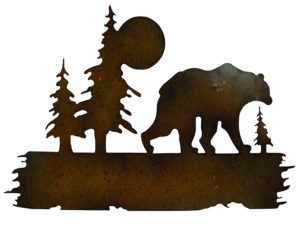 "Bear Wilderness Metal Wall Art | 16"" x 25"""