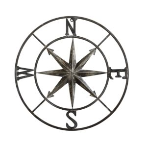 Casual Country Metal Compass Wall Decor | 30""