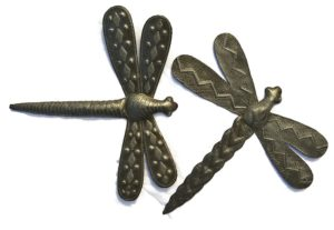 Garden Dragonflies | Haitian Metal Wall Art from Recycled Oil Drums | Set of 2