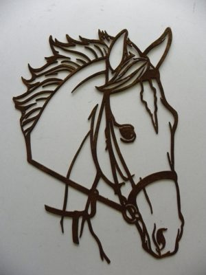 Horse Head Rustic Metal Wall Art