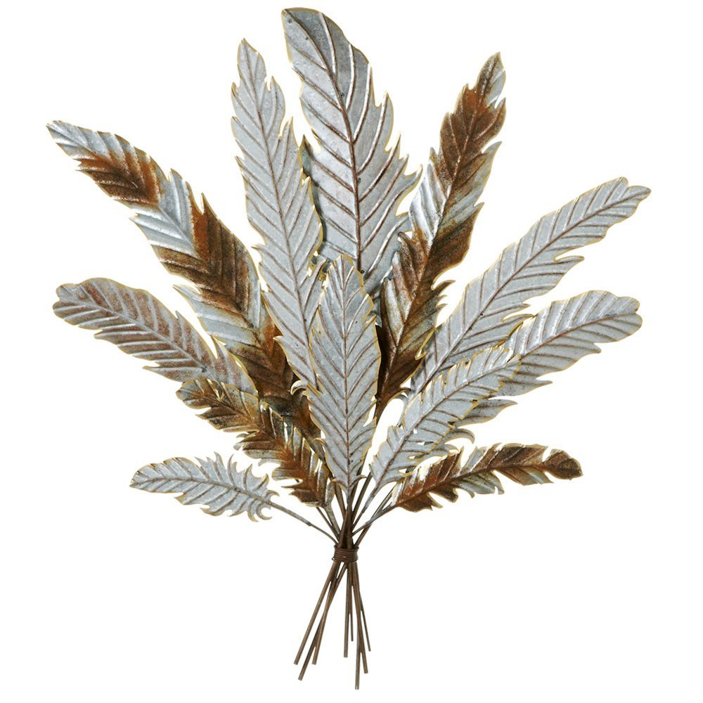 Galvanized Metal Feather Bouquet Wall Art | Shop Home ...