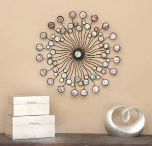 Modern Circles Metal Wall Art