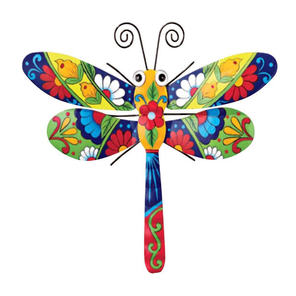 Southwestern Talavera Style Dragonfly Metal Wall Art