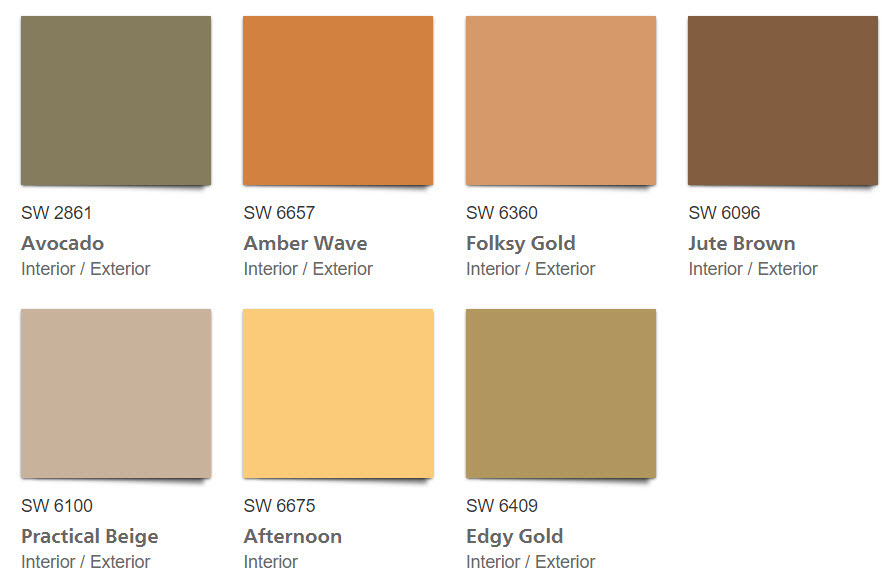 1970s Paint Colors | Retro Home Decor