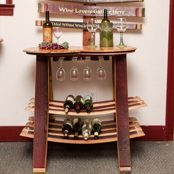 Unique Wine Racks | Barrel Head 16 Bottle Floor Wine Rack