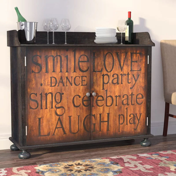 Red Barrel Studio | Firefly Hollow Bar Cabinet with Wine Storage