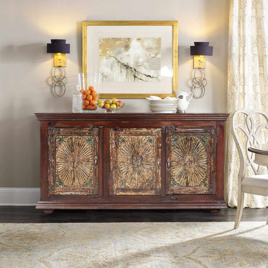 Solid wood furniture buffet cabinet