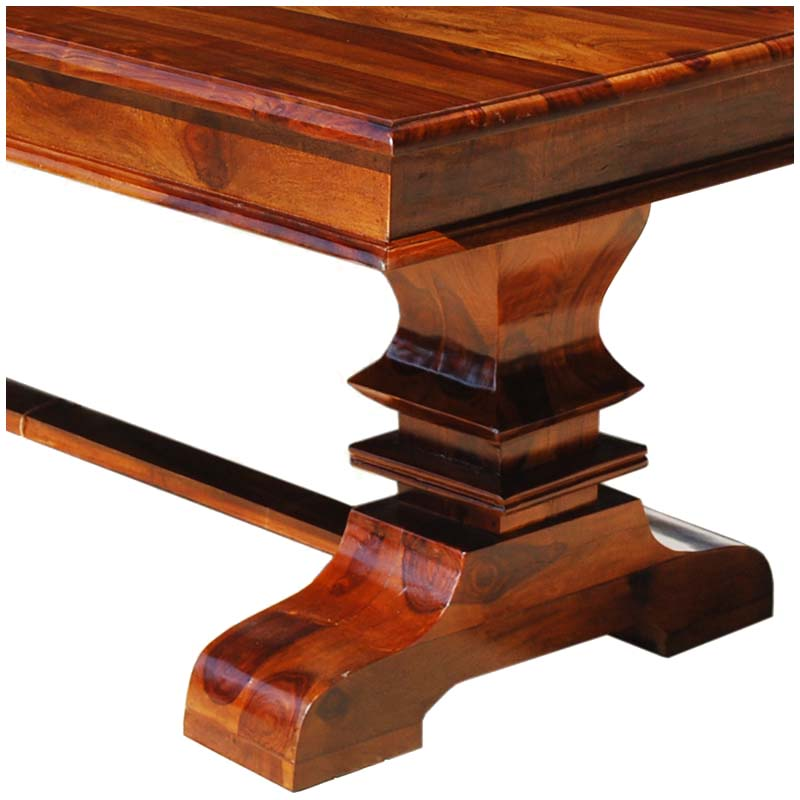 Solid wood furniture table leg detail