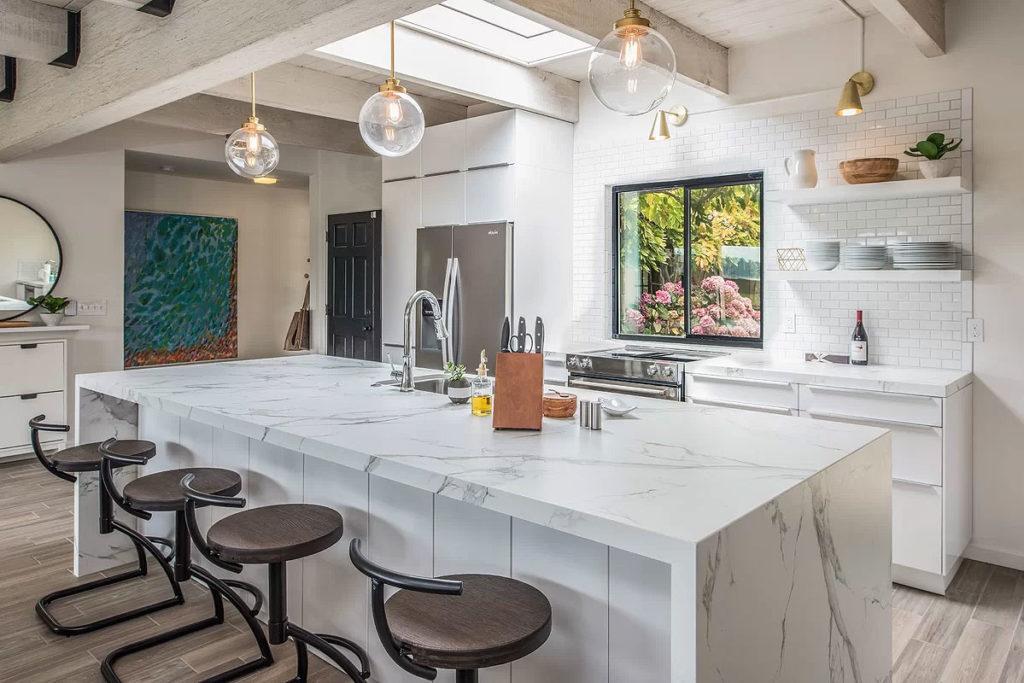 Bright White Industrial Kitchen