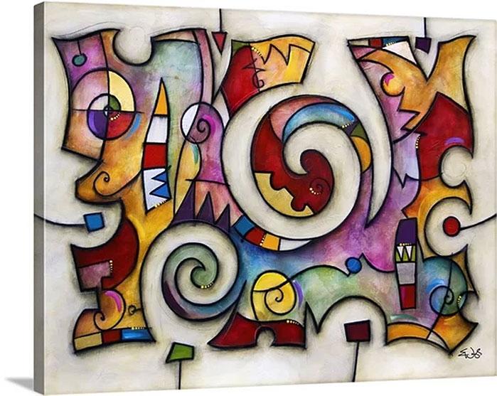: Eric Waugh Art   Big Swirl Canvas Wall Art