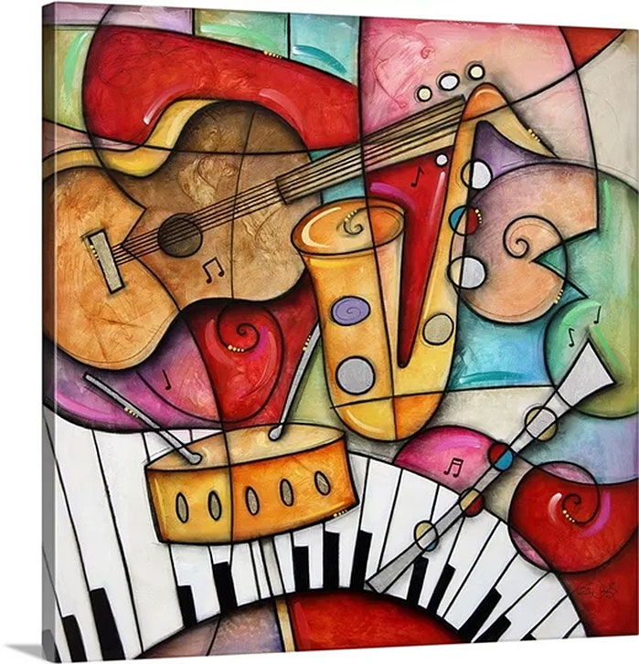 Eric Waugh Art | Jazz Makers I Canvas Wall Art
