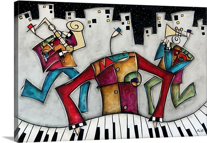 Eric Waugh Art | Silver City Jazz Canvas Wall Art