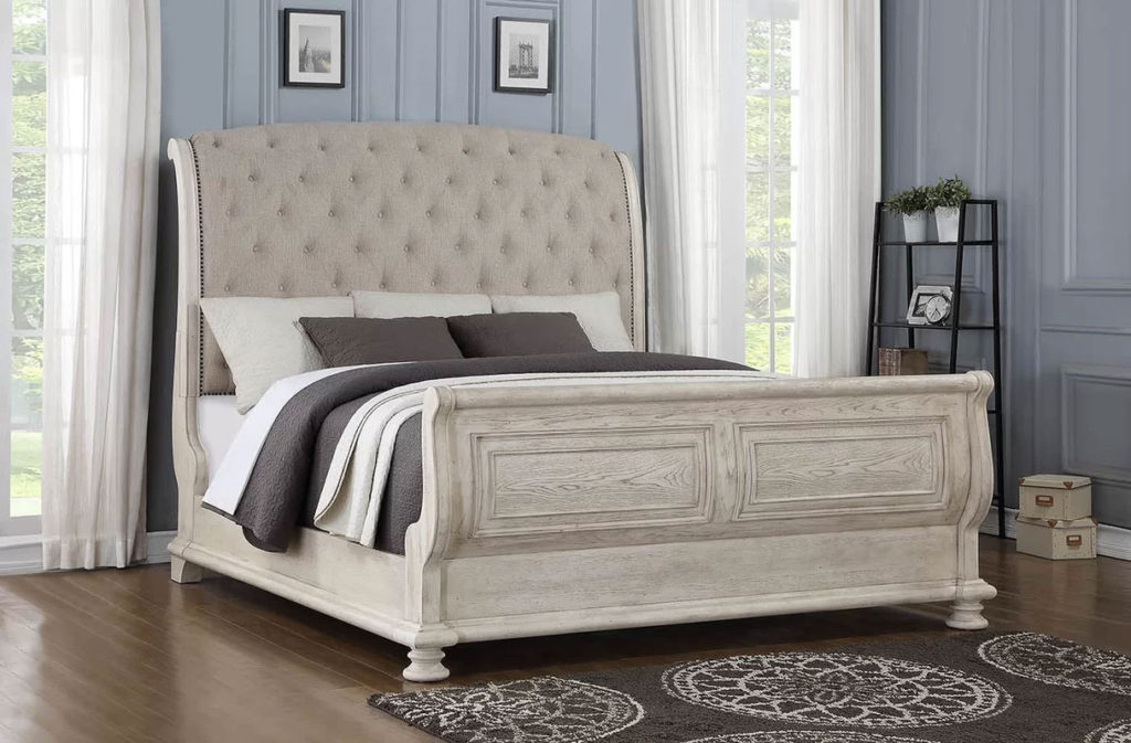Upholstered Sleigh Beds   Piland King Bed