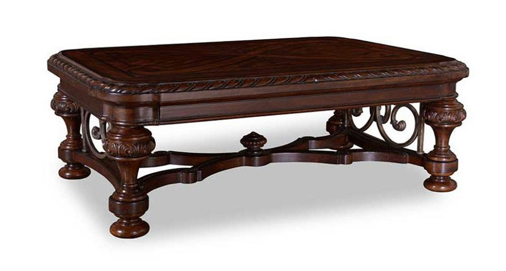 Traditional Wood Coffee Tables | ART Valencia Rectangular Wood Coffee Table
