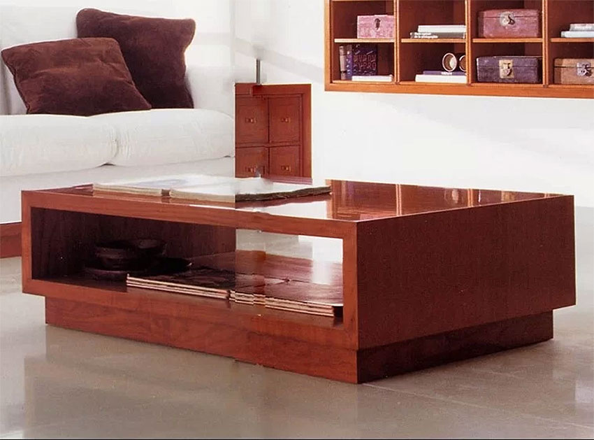 Modern Wood Coffee Tables | Annibale Colombo | Coffee Table with Extra Light Multilayer
